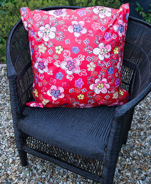 Retro Bright Floral Scatter Cushion