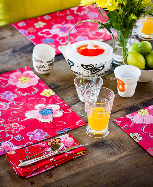 Retro Bright Floral Napkins