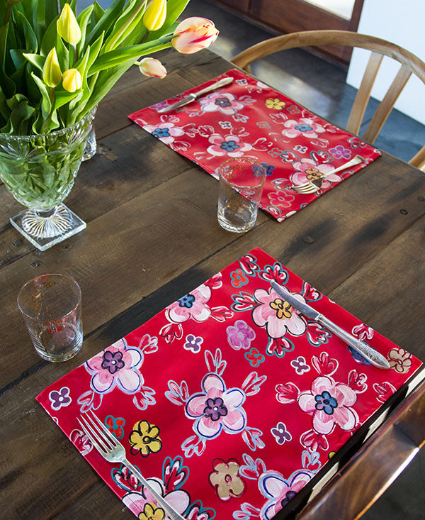Retro Bright Floral Placemats