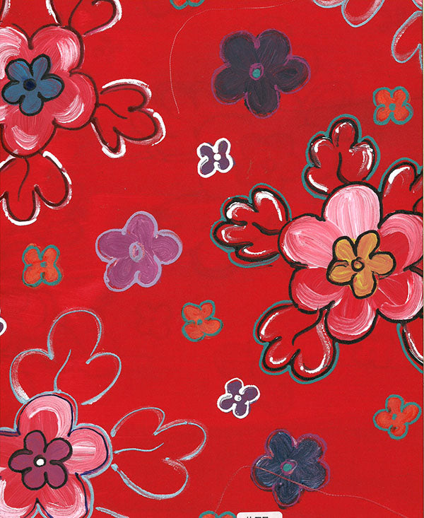 Retro Bright Floral Fabric