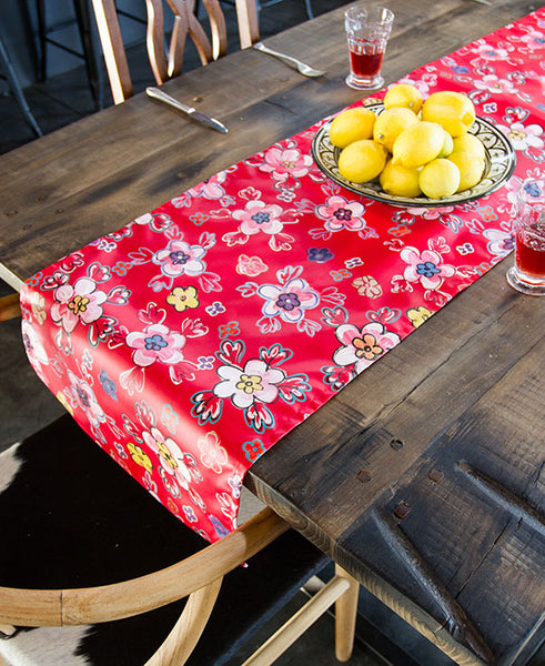 Retro Bright Floral Runner