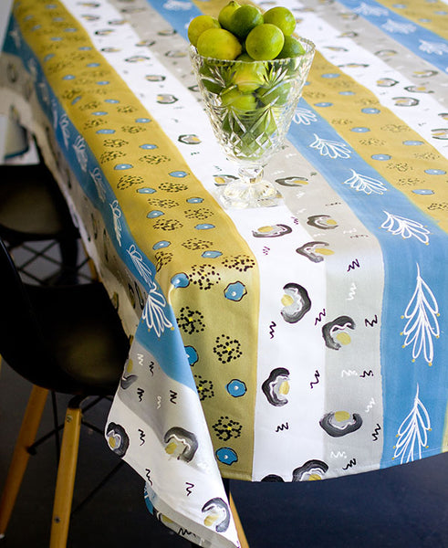 Modern African Stripe Tablecloth