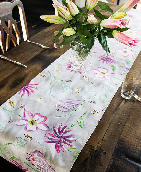 Flower Garden in Pinks Runner