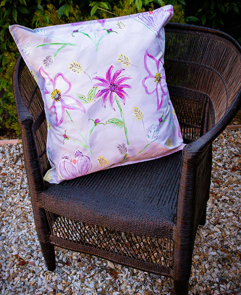 Flower Garden in Pinks Scatter Cushion