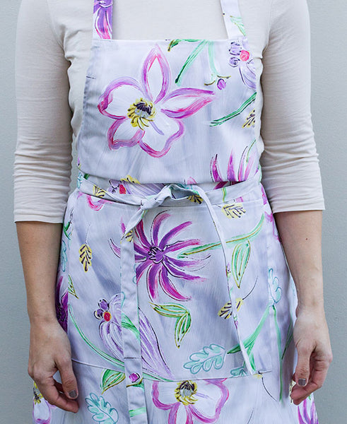 Flower Garden in Pinks Apron