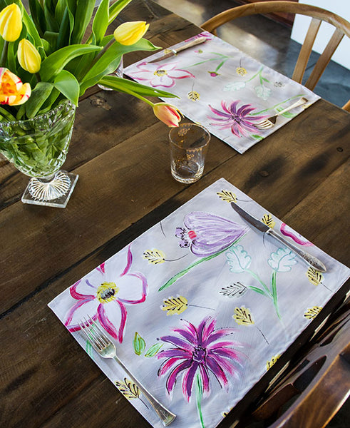 Flower Garden in Pinks Placemats