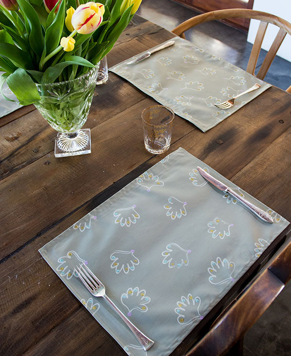 Soft Shell Pattern Placemats