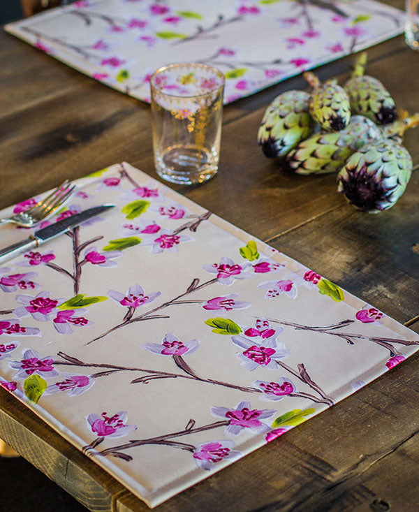 Pink Cherry Blossoms Placemats