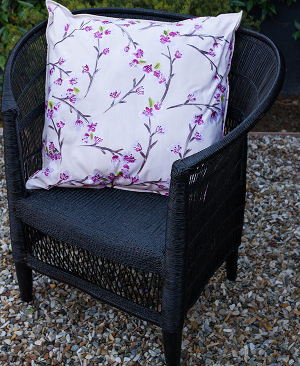 Pink Cherry Blossoms Scatter Cushion