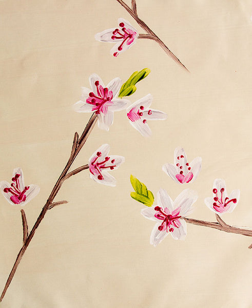 Pink Cherry Blossoms Fabric