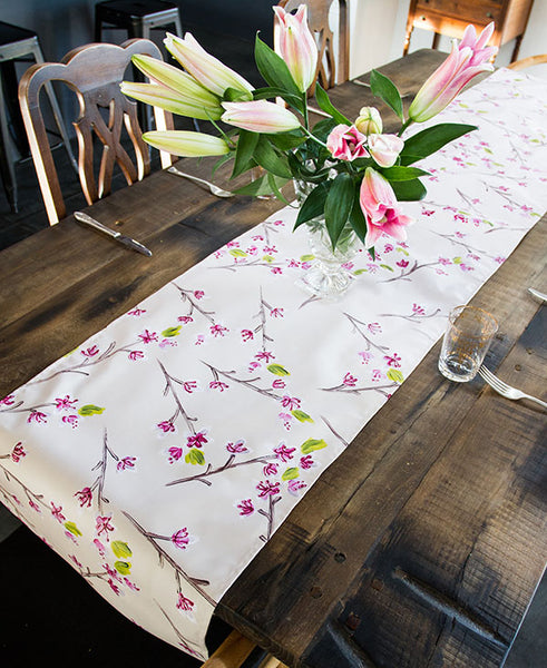 Pink Cherry Blossoms Runner