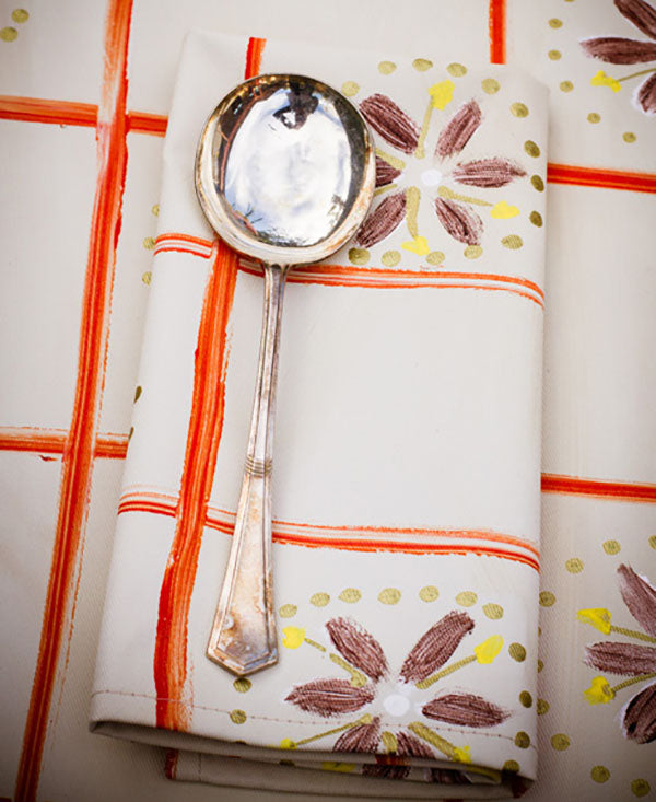 Check with Daisies Napkins