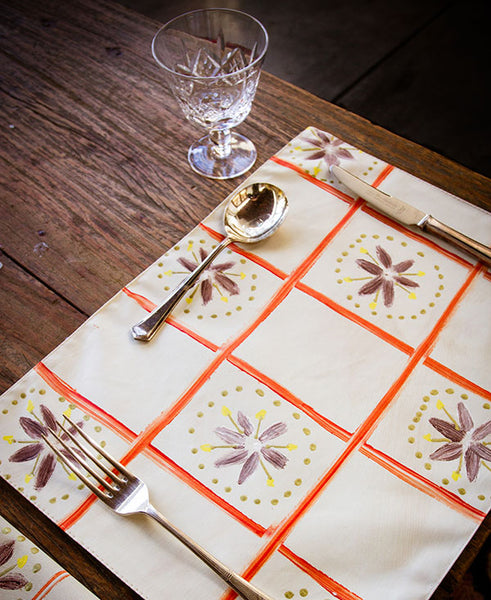Check with Daisies Placemats
