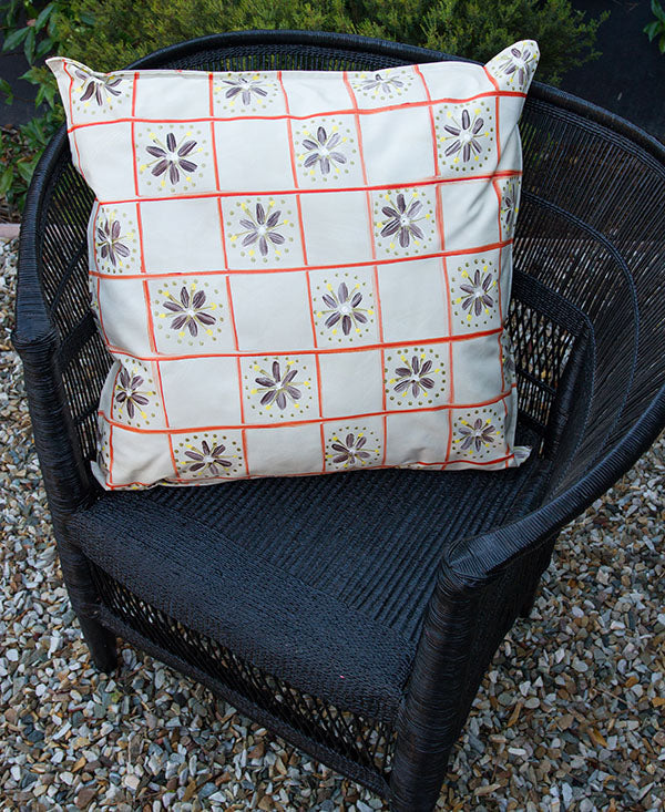 Check with Daisies  Scatter Cushion