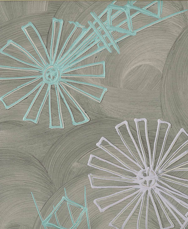 Pastel Windmills Fabric