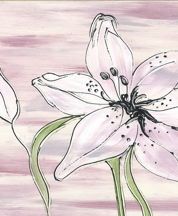 Lilac Tiger Lily Fabric
