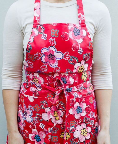 Retro Bright Floral Apron