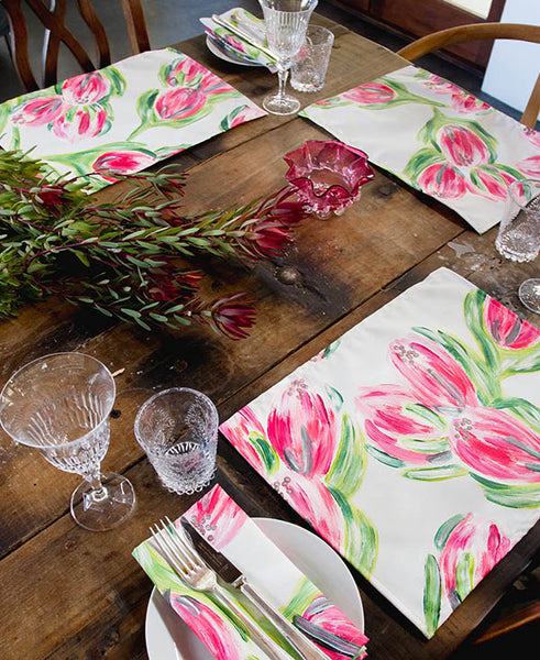 Pink Carnival Protea Placemats