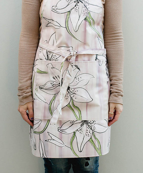 Lilac Tiger Lily Apron
