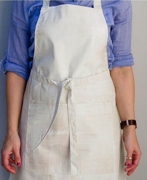 Cream Wash Apron