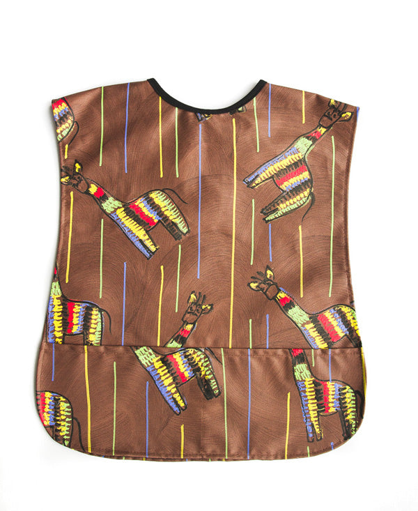 Giraffe On Brown Kids Art Apron 2-5 years