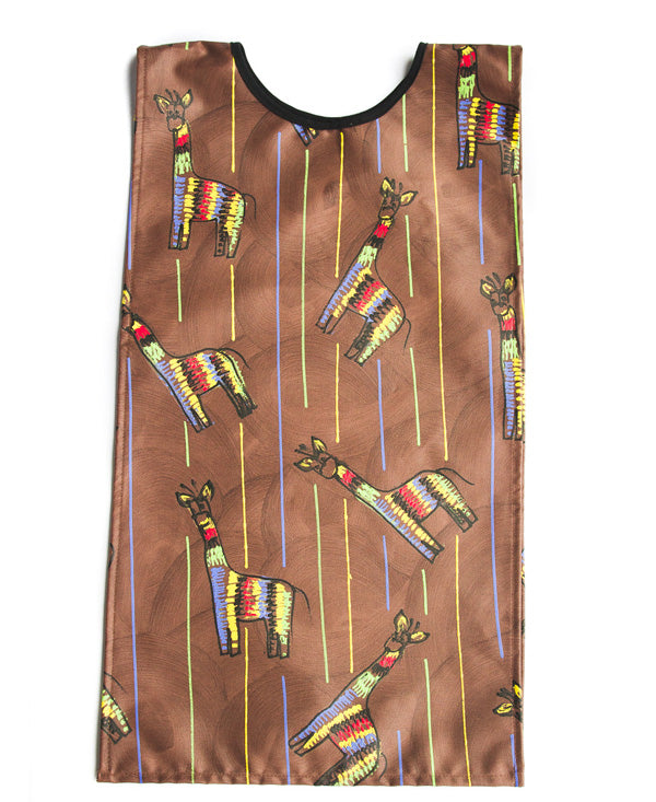 Giraffe On Brown Kids Art Apron 6-8 years