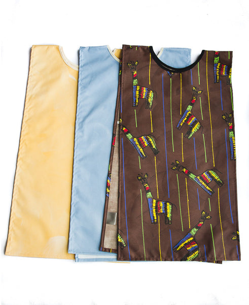 Giraffe On Brown Assorted Pack Of 3 Kids Art Aprons 6-8 years