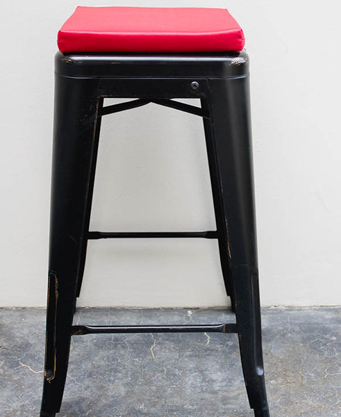 Red Bar Stool Cushion