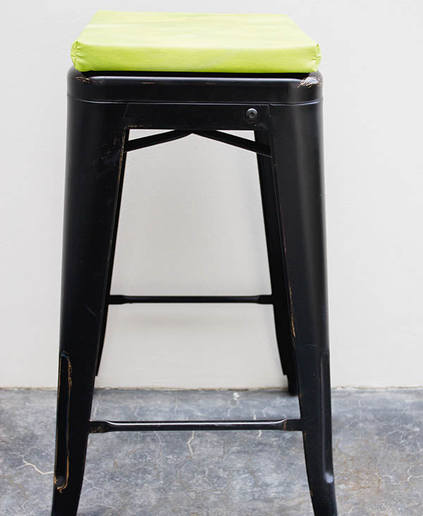 Lime Mixed Colour Wash Bar Stool Cushion