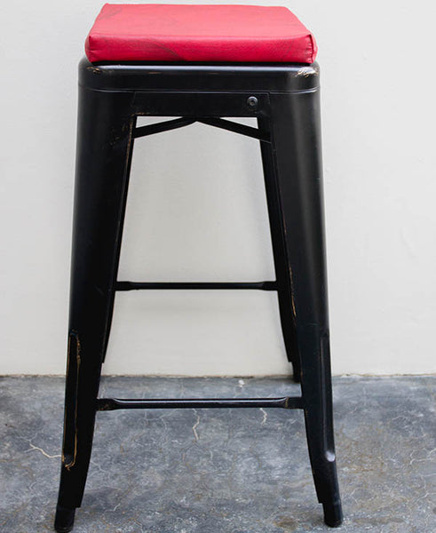Burgundy Mixed Colour Wash Bar Stool Cushion