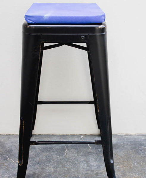 Blue Mixed Colour Wash Bar Stool Cushion