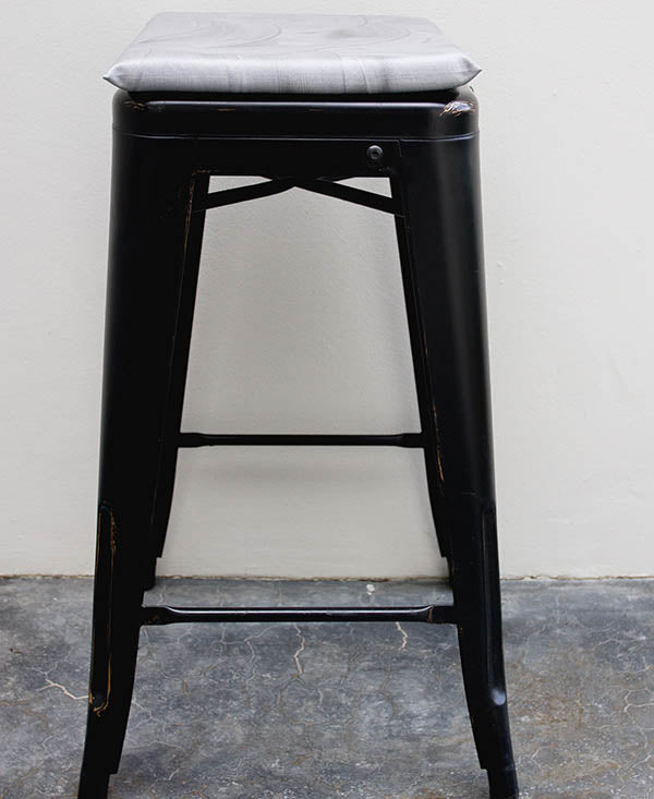 Silver Wash Bar Stool Cushion