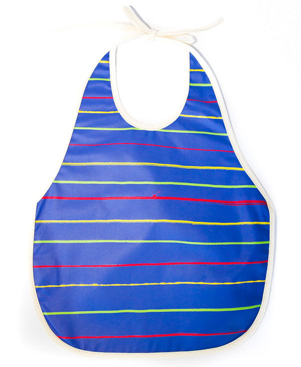 Stripes On Blue Baby Bib