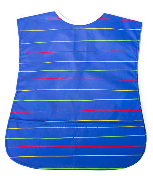 Stripes On Blue Kids Art Apron 2-5 years
