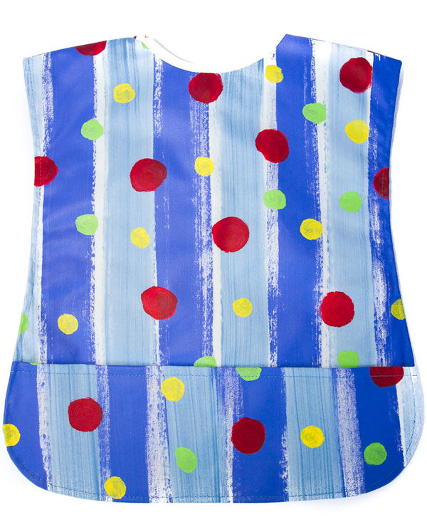 Spots On Blue Stripes Kids Art Apron 2-5 years