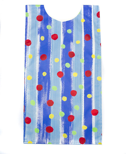 Spots On Blue Stripes Kids Art Apron 6-8 years