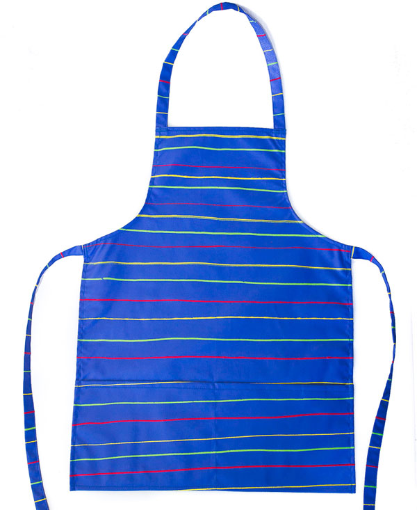 Stripes On Blue Kids Full Apron