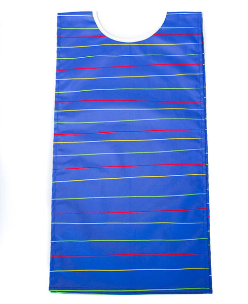 Stripes On Blue Kids Art Apron 6-8 years