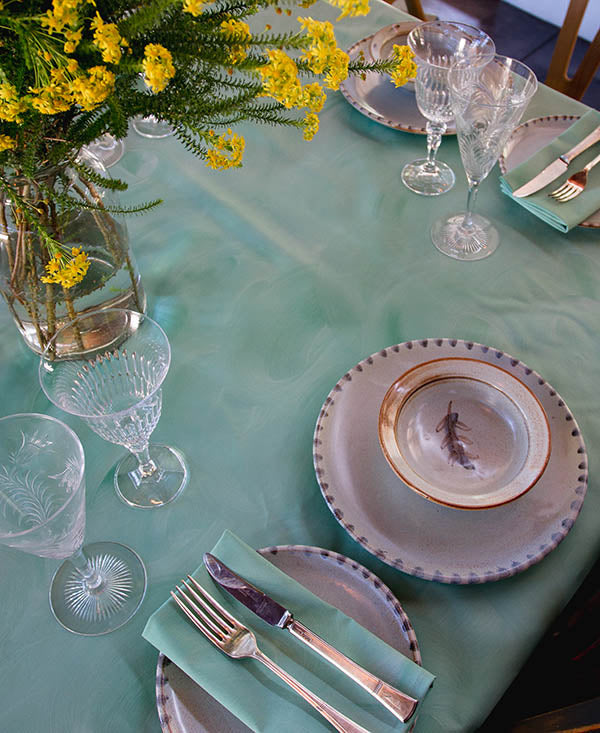 Soft Mint Wash Tablecloth