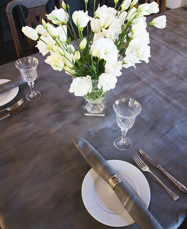 Grey and Silver Wash Tablecloth