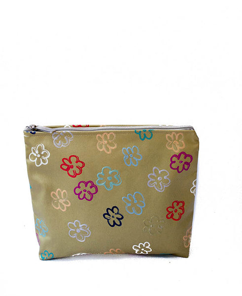 Daisies On Gold Ella Cosmetic Bag