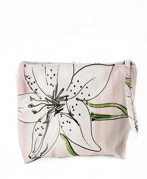 Lilac Tiger Lily Ella Cosmetic Bag