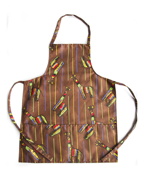 Giraffe On Brown Kids Full Apron