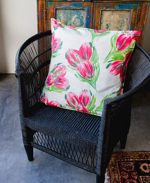 Pink Carnival Protea Scatter Cushion
