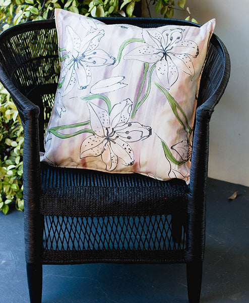 Lilac Tiger Lily Scatter Cushion