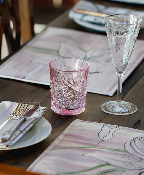 Lilac Tiger Lily Placemats