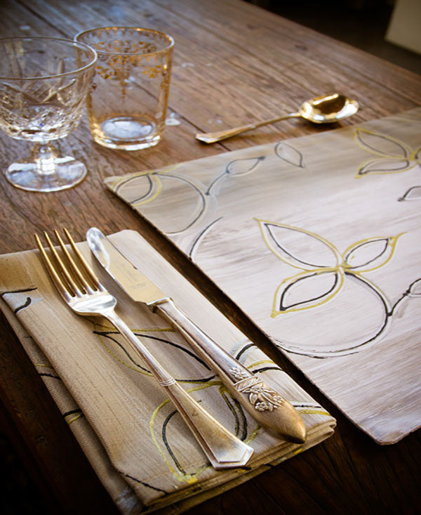 Gold Leaf Napkins
