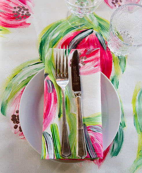 Pink Carnival Protea Napkins