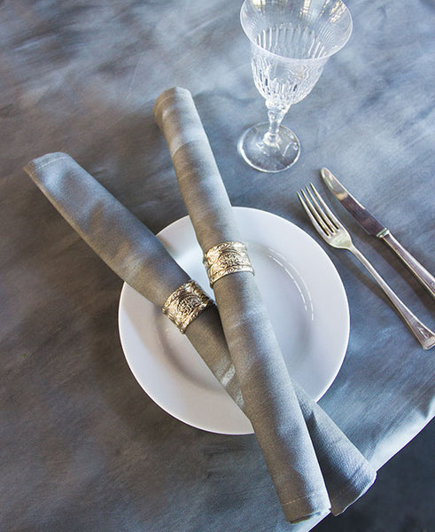 Grey and Silver Wash Napkins