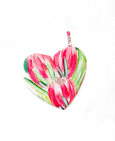 Pink Carnival Protea Heart-Shaped Pot Grabber